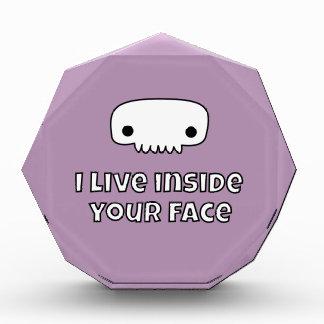 I live inside your face skull award