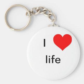 I live life keychains