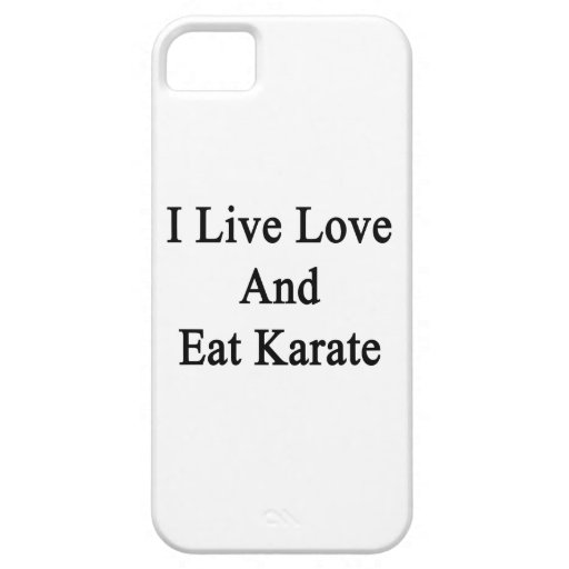 I Live Love And Eat Karate iPhone 5 Case