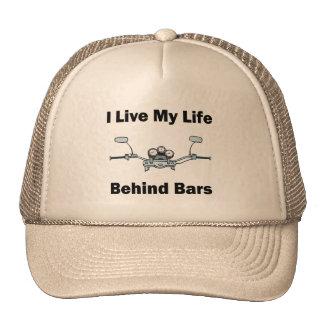 I Live My Life Behind Bars Hats