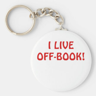 I Live Off Book Keychain