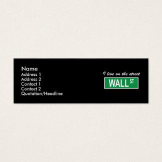 """I live on the street Wall St"" Dark Profile Card"