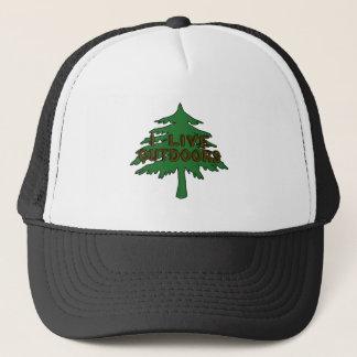 I Live Outdoors Trucker Hat