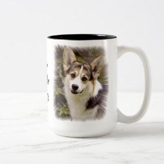 I LIVE THE LIFE OF RILEY Two-Tone COFFEE MUG