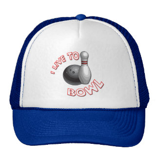 I Live to Bowl Trucker Hat