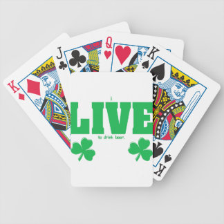 I Live To Drink Beer from U.S. Custom Ink Bicycle Playing Cards