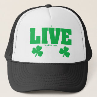 I Live To Drink Beer from U.S. Custom Ink Trucker Hat