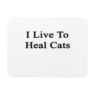 I Live To Heal Cats Rectangular Photo Magnet