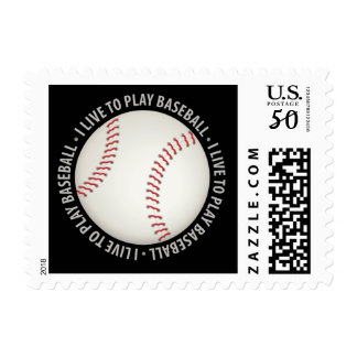 I Live To Play Baseball | Sport Gift Postage