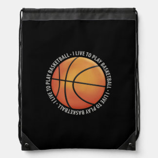 I LIVE TO PLAY BASKETBALL BACKPACK