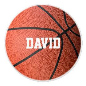 I Live To Play Basketball | Sport Gifts Ceramic Knob