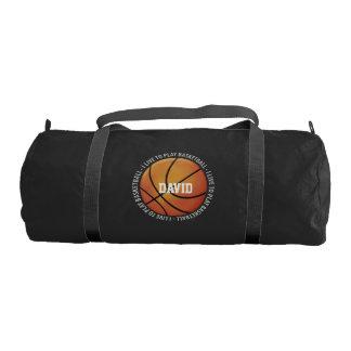 I Live To Play Basketball | Sport Gifts Gym Bag