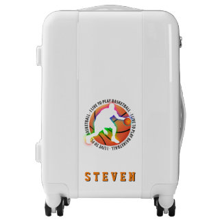 I Live To Play Basketball   Sports Gift Luggage