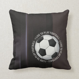 I Live To Play Football Fanatic Throw Pillow