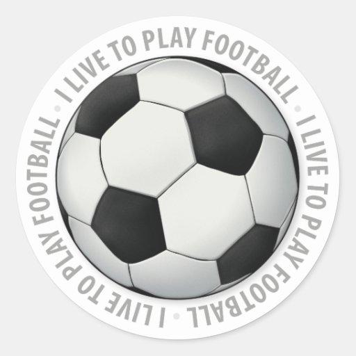 I live to play football Sticker