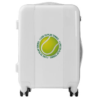 I Live To Play Tennis   Sports Gift Luggage