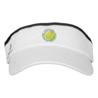 I live to play tennis visor