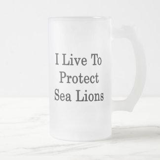I Live To Protect Sea Lions Coffee Mug
