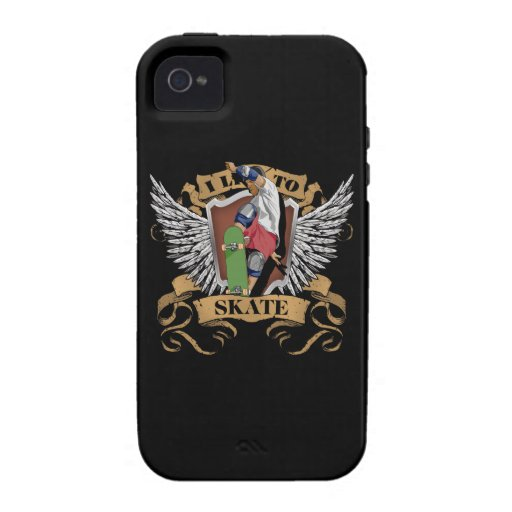 I Live To Skate Case-Mate iPhone 4 Covers