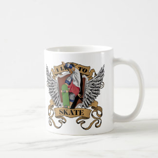 I Live To Skate Coffee Mug