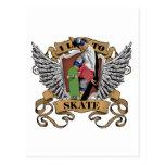 I Live To Skate Postcard