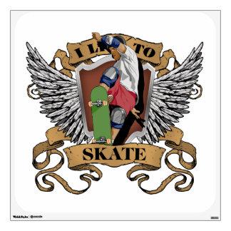 I Live To Skate Room Graphic