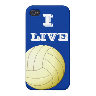 I Live Volleyball  iPhone 4 iPhone 4 Case