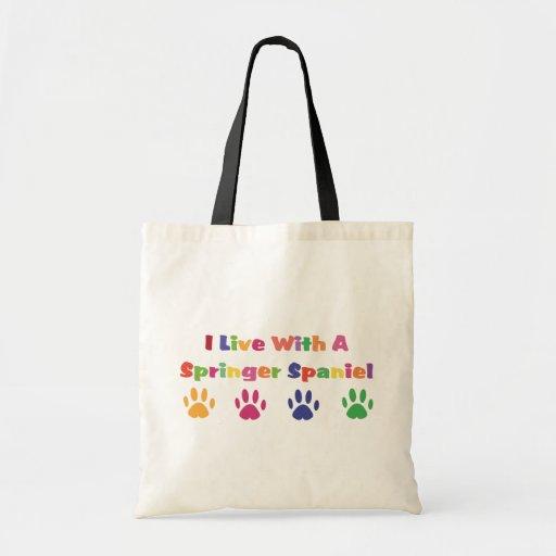 I Live With A Springer Spaniel Bag
