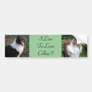 I LiveTo LoveCollies !! Car Bumper Sticker