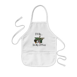 I ll Be in My Office Garden Apron