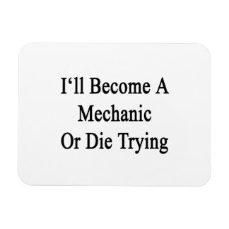 I ll Become A Mechanic Or Die Trying Vinyl Magnets