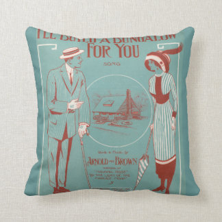 I'll Build a Bungalow for You Throw Pillow