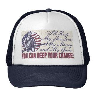 I ll Keep My Guns Freedom Money 2nd Amendment Trucker Hats