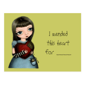 I ll mend your heart post card