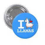I Llama Llamas 1 Inch Round Button