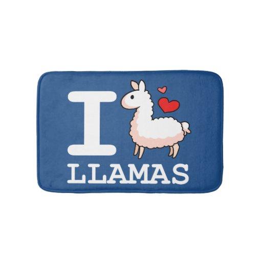 I Llama Llamas Bathroom Mat Zazzle