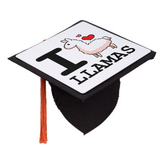I Llama Llamas Graduation Cap Topper