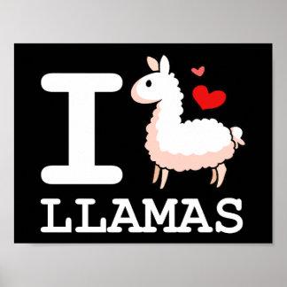I Llama Llamas Poster