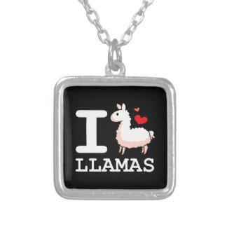 I Llama Llamas Silver Plated Necklace
