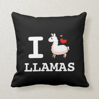 I Llama Llamas Throw Pillow