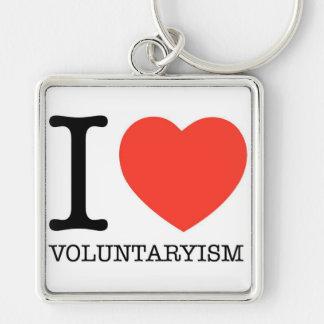 I llavero cuadrado superior de Voluntaryism del co