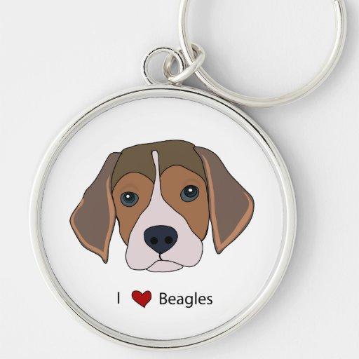 I llavero de los beagles del corazón