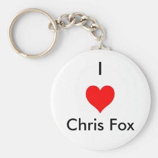 I llavero del Fox de Chris del corazón [blanco; Es