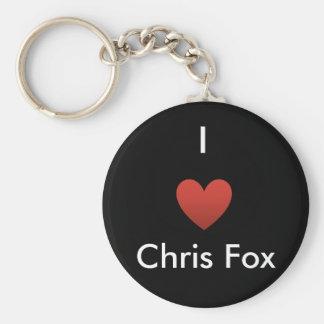 I llavero del Fox de Chris del corazón [negro]