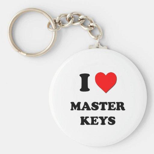 I llaves principales del corazón llaveros