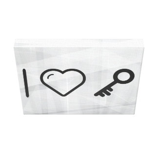 I llaves que llevan del corazón impresión en tela