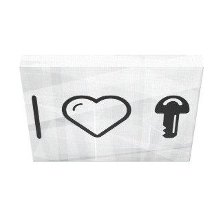 I llaves que llevan del corazón impresión en lienzo estirada