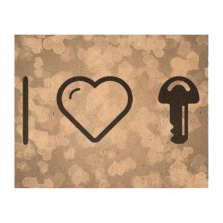 I llaves que llevan del corazón papel de corcho