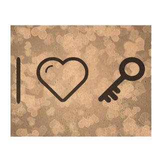 I llaves que llevan del corazón papel de corcho para fotos