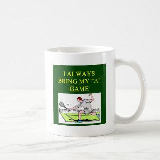 i llove tennis player coffee mug